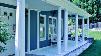 Hardie Plank lap siding, Cabin John, Maryland -Boothbay Blue