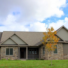 Traditional Exterior by Sunrise Builders of Marquette, Inc.