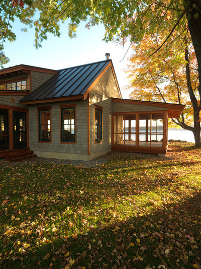 Rustic Exterior by Bickford Construction Corporation
