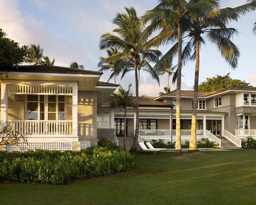 Hawaii plantation house exterior houzz for Hawaiian plantation style home plans
