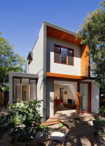Midcentury Exterior by Habitech Systems