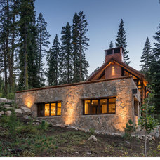 Rustic Exterior by Olson-Olson Architects, llp