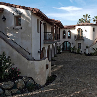 Inspiration for a mediterranean exterior home remodel in Orange County