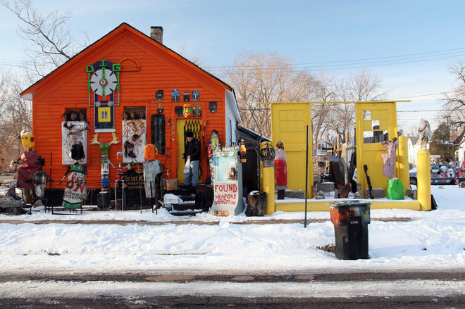eclectic exterior by The Heidelberg Project