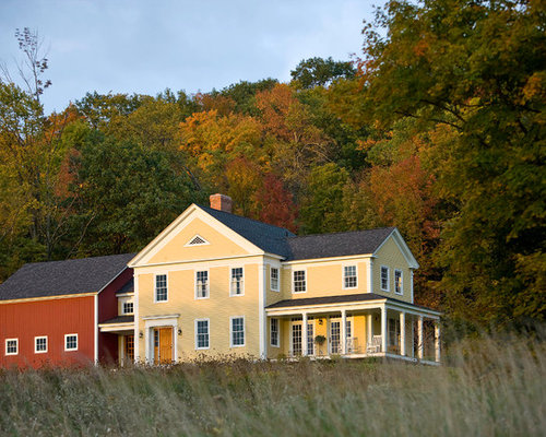 Vermont Farmhouse Attached Barn Houzz
