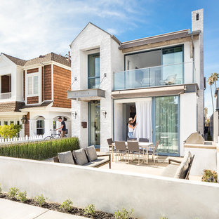 75 Transitional Exterior Home Design Ideas - Stylish Transitional ...