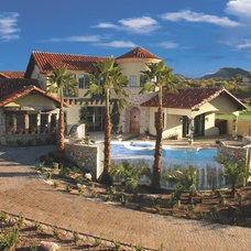 Mediterranean Exterior by Paddle Creek Design