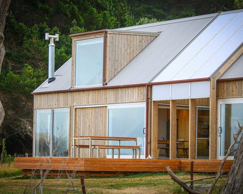 Split Roof Design: 75 Beach Style Split-level Exterior Design Ideas