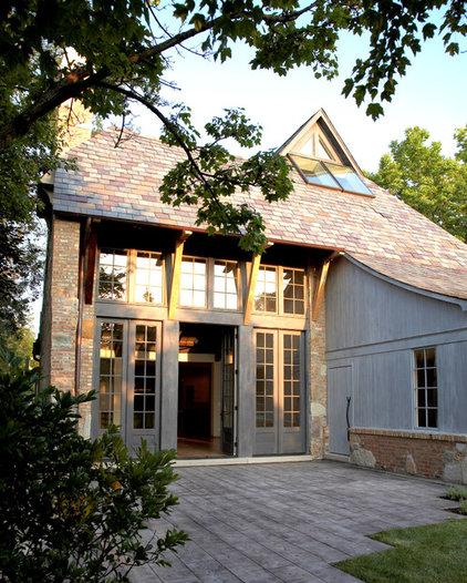 contemporary exterior by Mark Hickman Homes