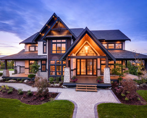 Best Transitional Two-Story Exterior Home Design Ideas ...