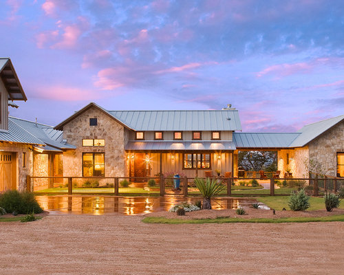 Houzz modern texas country ranch design ideas remodel for Hill country style homes
