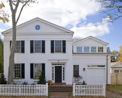 Superb Best White Clapboard Design Ideas Remodel Pictures Houzz Largest Home Design Picture Inspirations Pitcheantrous