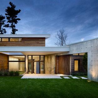 Contemporary exterior home idea in New York