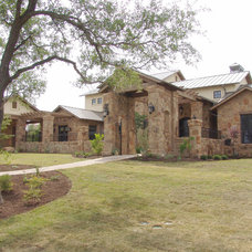 Eclectic Exterior by AUSTIN DESIGN GROUP