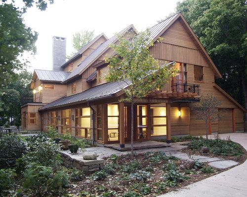 Cedar Siding Metal Roof Home Design Ideas Pictures