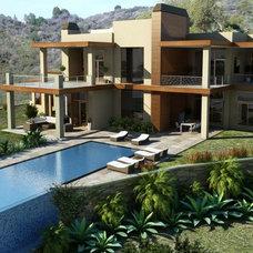 Contemporary Exterior by Alloi Architecture + Construction