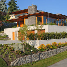 Contemporary Exterior by Don Stuart Architect Inc