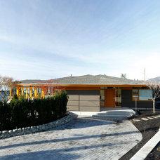 Exterior by Don Stuart Architect Inc