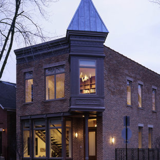 Eclectic exterior home idea in Chicago