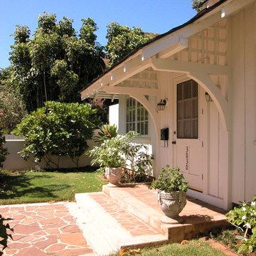 Historic Diamondhead Residence - Exterior Entry Detail