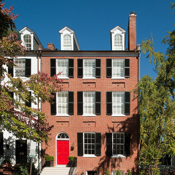 Historic Georgetown Smith's Row Federal Updated with a Modern Twist