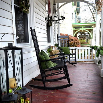 Historic-looking front porch
