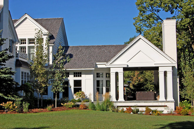 Traditional Exterior by Helenske Design Group