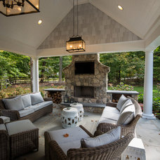 Transitional Exterior by Z+ Architects, LLC