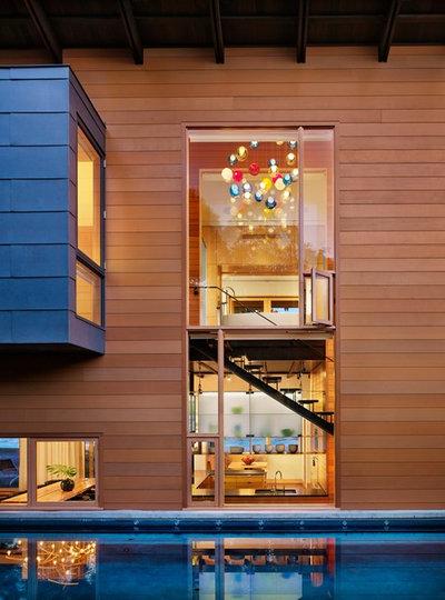 Contemporary Fasad by Lake Flato Architects
