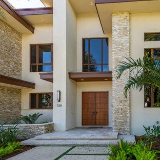 Großes Einfamilienhaus mit Flachdach in Miami