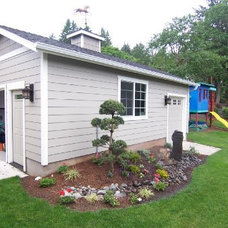 Traditional Garage And Shed by Asbury Remodeling & Construction, LLC