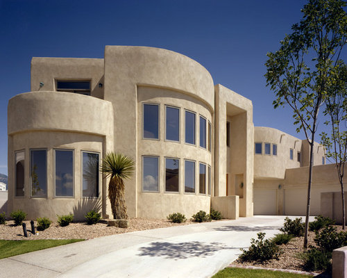 White Adobe Exterior Design Ideas Renovations Photos