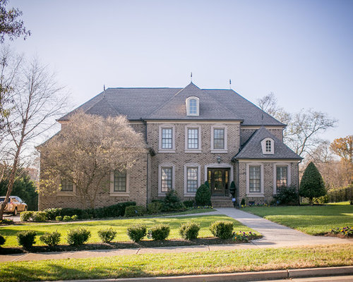 brick home designs. Example of a classic brown two story brick exterior home design in  Nashville with Brick Exterior Home Ideas Design Photos Houzz