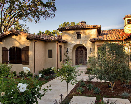 Stucco And Stone Exterior Home Design Ideas, Pictures