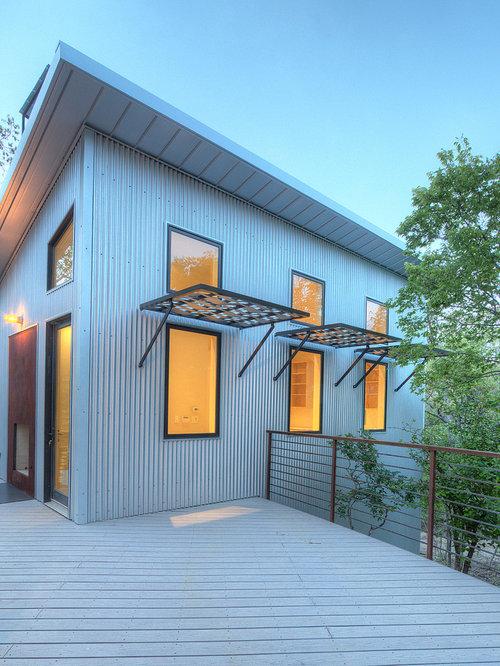 industrial h user mit pultdach ideen design bilder houzz. Black Bedroom Furniture Sets. Home Design Ideas