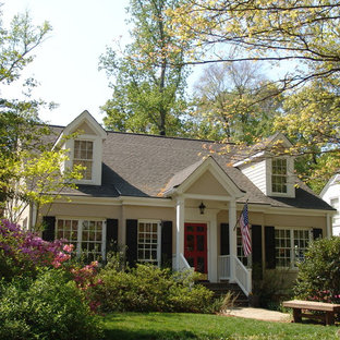 Photo of a small traditional two-storey brick exterior in Atlanta.