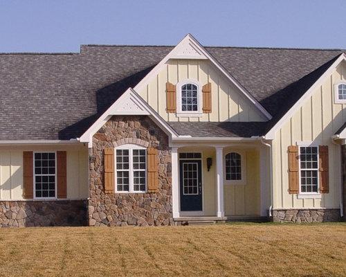 Haus Mit Steinfassade gelbe häuser mit steinfassade ideen design bilder houzz