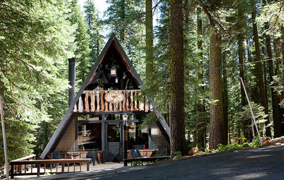 Houzz Tour: Personality Perseveres in a Classic Tahoe A-Frame