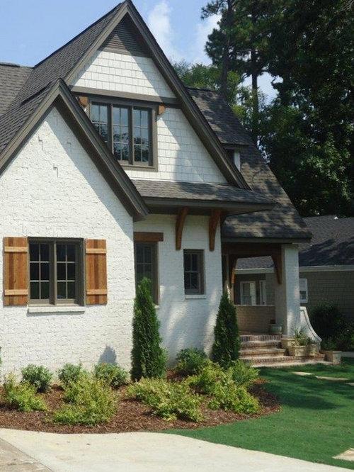 Craftsman Exterior Design Ideas Remodels Photos: Craftsman White Exterior Home Design Ideas, Remodels & Photos