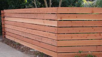 Horizontal Redwood Fence 1