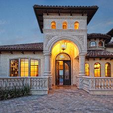 Mediterranean Exterior by Zbranek & Holt Custom Homes