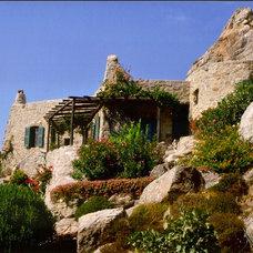 Mediterranean Exterior by Deborah French Designs