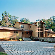Rustic Exterior by Wyant Architecture