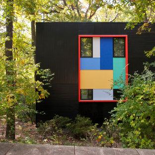 Foto de fachada negra minimalista