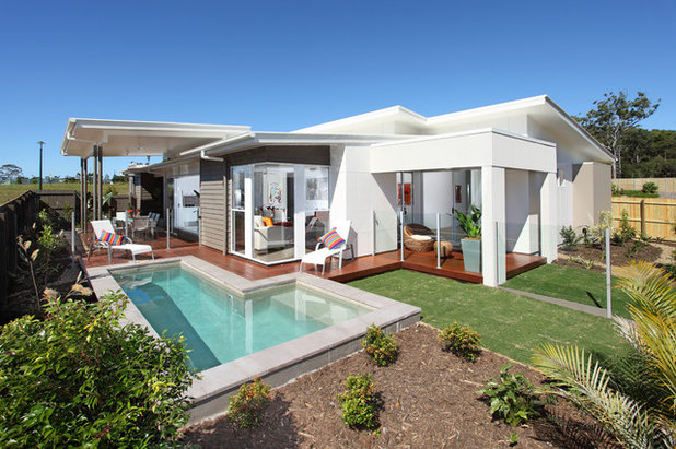 Contemporary Exterior by Highshots Photography