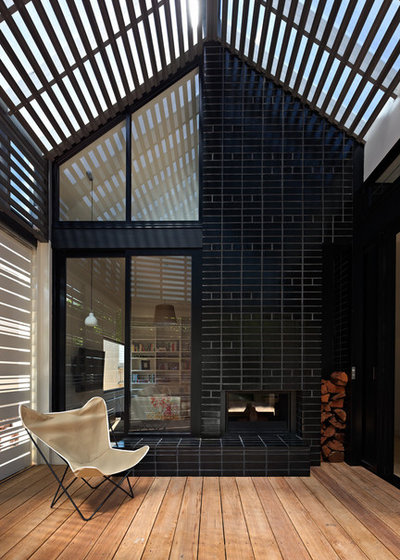 Contemporary Exterior by Cheminees Philippe Fireplaces Australia