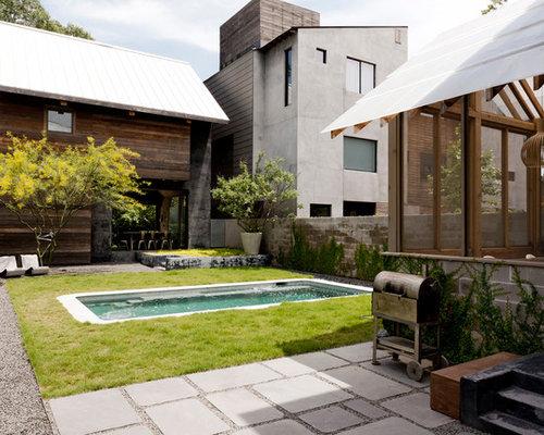 Fassadengestaltung reihenhaus beispiele  Modernes Haus in Houston - Ideen, Design & Bilder