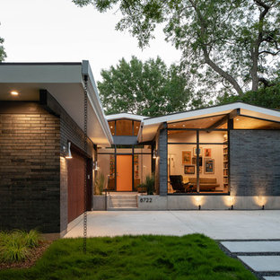 75 Beautiful Midcentury Modern Brick Exterior Home Pictures ...