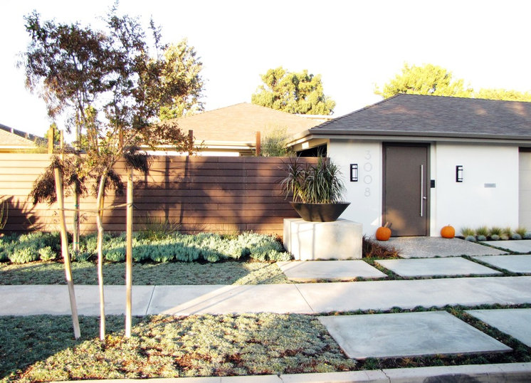Ranch Home Updates Midcentury Exterior by Tara Bussema - Neat Organization and Design