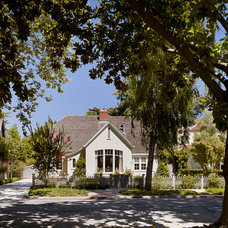 Traditional Exterior Houzz Tour: A Sweet Tudor Cottage Gets a Sophisticated Update